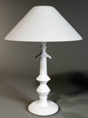 White Table Lamp 3d Max Model Free