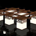 Chinese Ceiling Lamp Wooden 3dsMax Model
