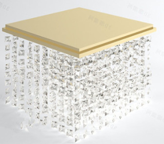 Golden Crystal Ceiling Lamp 3dsMax Model