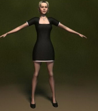 Sexy female spy agent rigged 3d model 3ds Max files free
