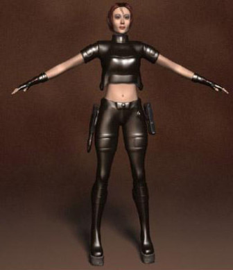 Human 3d Max Model Free: Female Special Police 3ds Max 3d ...