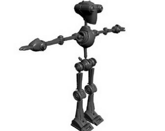 Mini Robot 3dsMax Model Free