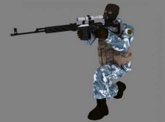 Counter Strike Game Character 3dsMax Model Free (3ds,Max
