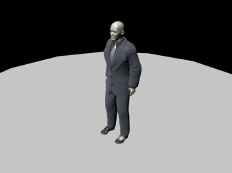 Bodyguard Character 3dsMax Model Free