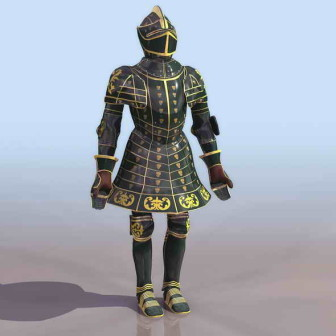 European Knight Shining Armour 3dsMax Model