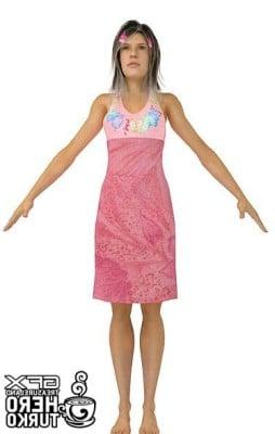 Human Girl Body 3dsMax Model Free