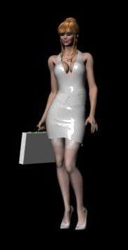 Silver Dress Lady Body Free