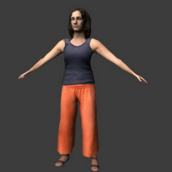 Middle Aged Women 3dsMax Model