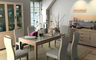 Small Fresh Restaurant Interior Scene