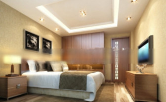 Hotellihuoneen sisustusmaisema