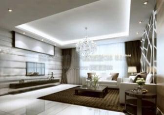 Luxury Living Room Interior Scene