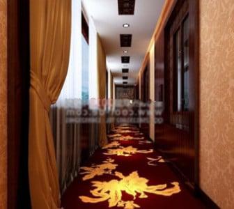 Hotellin eteisen sisustuskohtaus