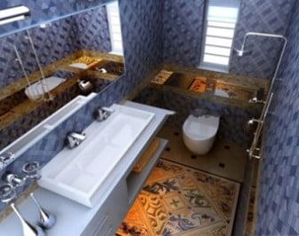 Luxury Bathroom Interior Scene