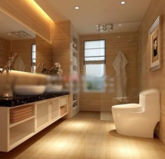 3d Max Model Scene Toilet Interior