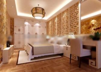 Scene Chinese Style Bedroom Interior Scene