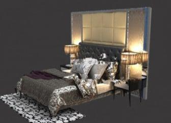 Dark Modern Bedroom Interior