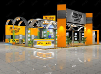 3d Exhibition Model : Personalized overall design d max model free shop ds max