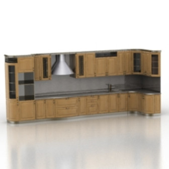 Kitchen Wooden Cabinet 3d Max Model Free