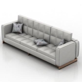 Silver Sofa 3dsMax Model Free