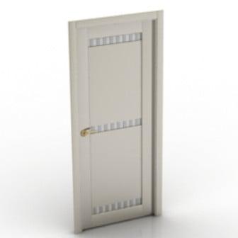 3d Max Model Housing White Door