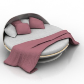 Round Bed 3dsMax Model Free