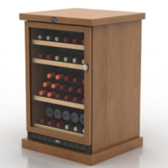Wooden Wine Cabinet 3d Max Model Free