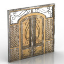 3d Max Model European Door Decoration