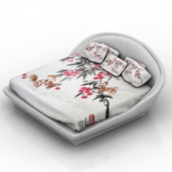 Fresh Pattern Bed 3d Max Model Free