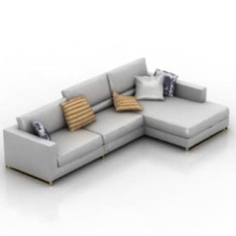 L Sofa Interior 3dsMax Model Free