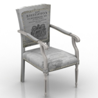 Vintage European Chair 3d Max Model Free