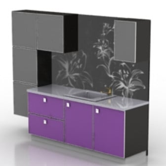 Cupboard Cabinet 3d Max Model Free