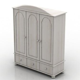 White Minimalist Wardrobe 3d Max Model Free