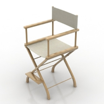 Casual Wooden Chair 3dsMax Model Free