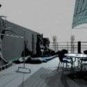 Roof Garden Design 3dsMax Model
