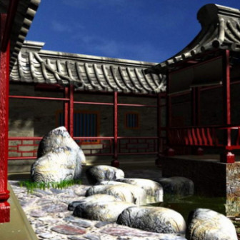 Chinese Building 3dsMax Model Free