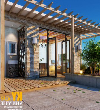 Evening Garden House 3d Max Model Free (3ds,Max) Free