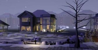 Frost Modern Architecture Villa 3dsMax Model