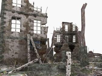 The Ruins Of Modern Architecture 3dsMax Model Scene