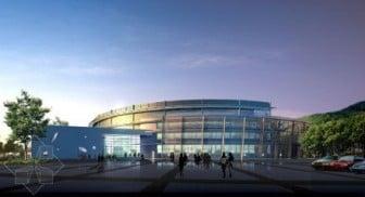 Circular Center Building 3d Max Model Free