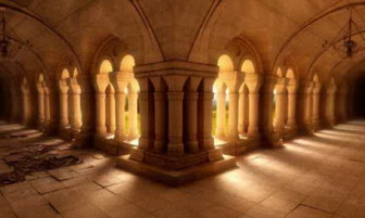 European Church Corridor 3dsMax Model