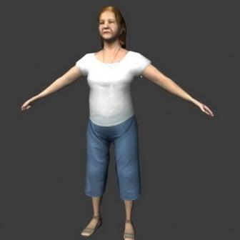 Elderly Women 3dsMax Model