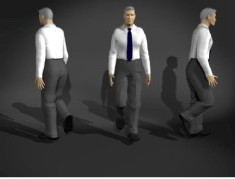 Office Business Man 3dsMax Character Model