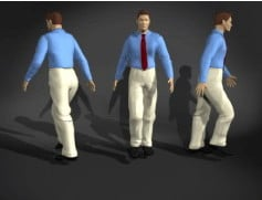 Business Walking Man 3dsMax Model