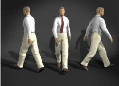 Walking Office Man 3dsMax Model