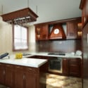 Wooden Kitchen Interior Scene