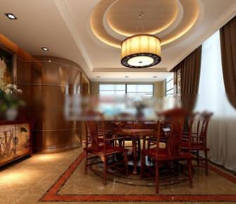 3dMax Model Interior Restaurant Scene