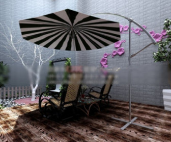 3d Max Model Small Balcony Space