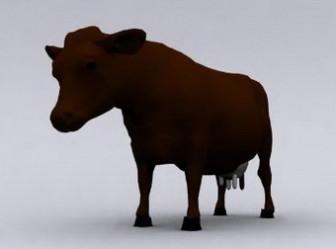 3d Max Model Cow