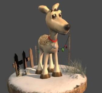 3d Model C4d Reindeer