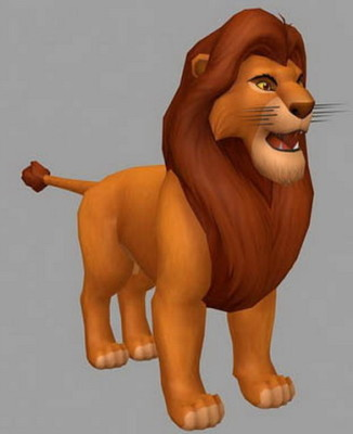 Eläin Simba-leijona